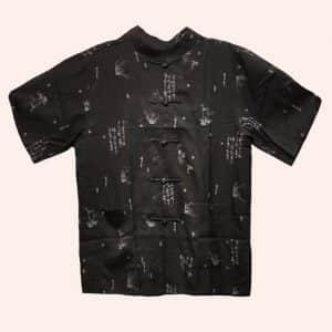 Китайская рубашка с иероглифами