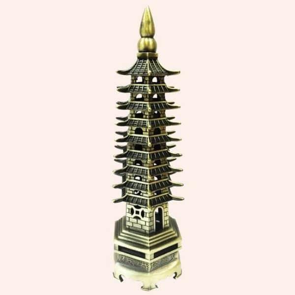 Пагода 9 ярусов бронза