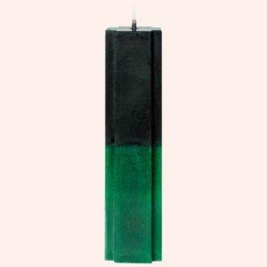 Магическая свеча Черно зеленая