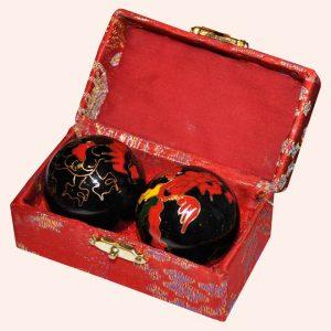 Шары здоровья 4см чёрные дракон феникс