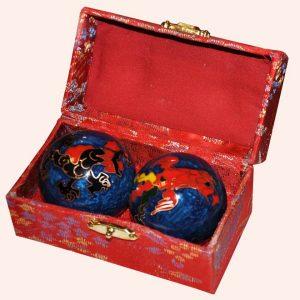 Шары здоровья 4.5см синие дракон феникс