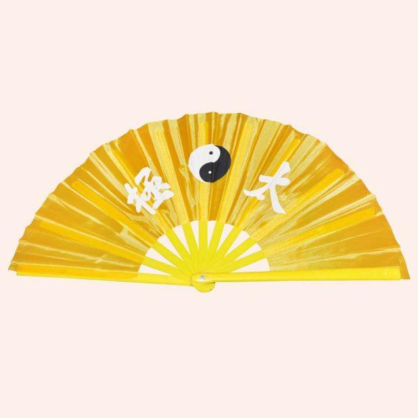 Китайский веер для танца жёлтый