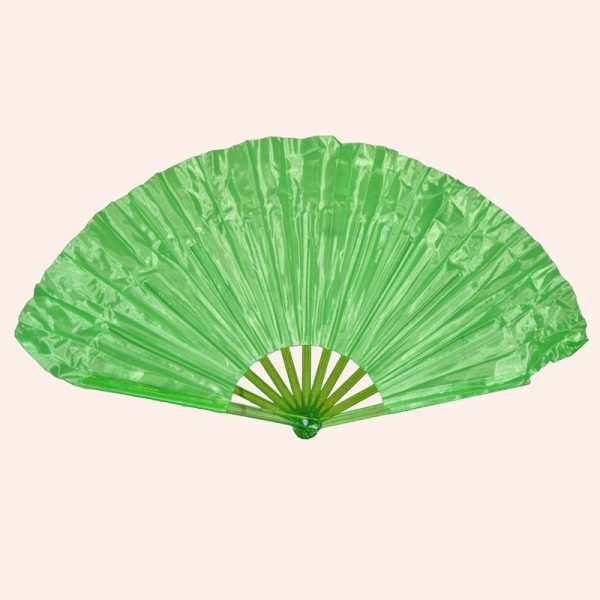 Китайский веер для танца зелёный