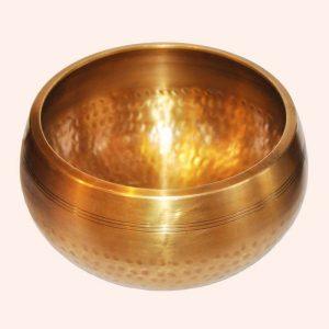 Поющая чаша полукованная 7 металлов 14 см