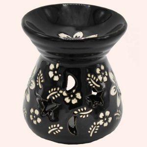 Аромалампа керамическая черная 8 см
