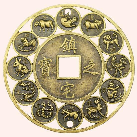 Китайская монета Гороскоп 5,5 см