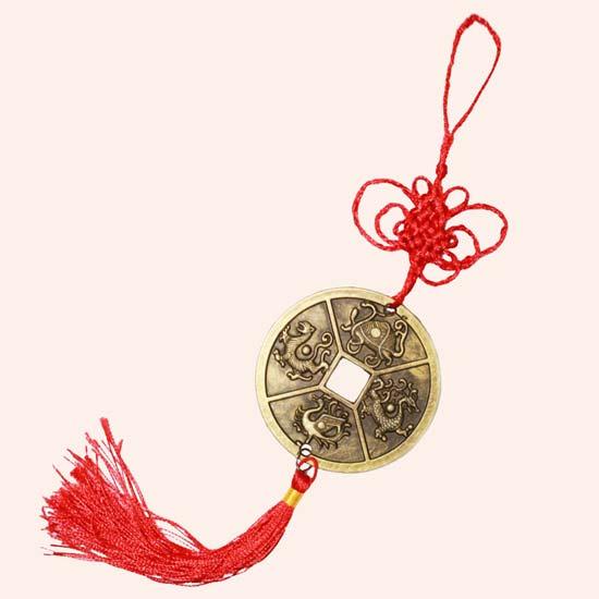 Китайская монета 4 животных 6 см