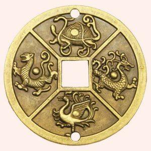 Китайская монета 4 священных животных 6 см