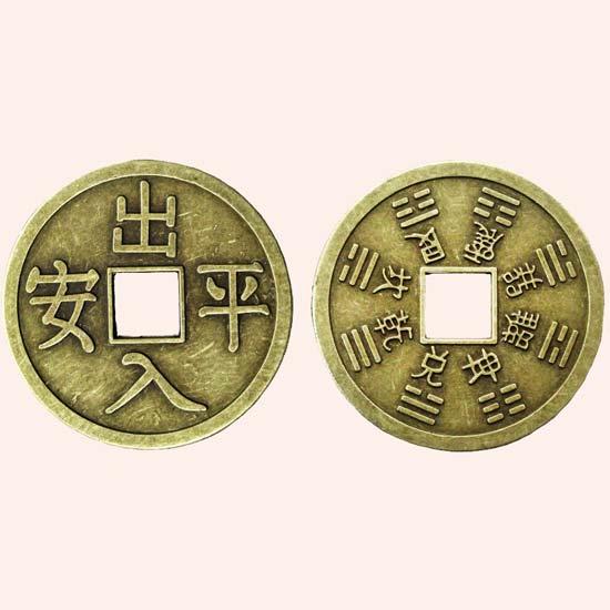 Китайская монета на удачу и богатство 6 см