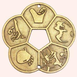 Китайская монета 5 благ 5,6 см