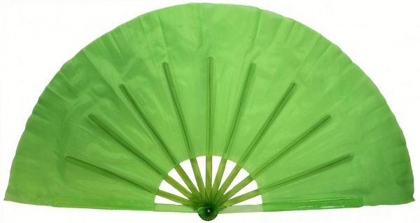 Китайский веер для танцев зелёный