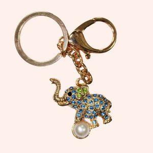 Брелок Слон с жемчужиной
