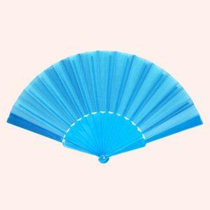 Китайский веер для танца синий