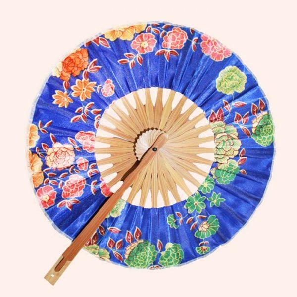 Японский веер синий