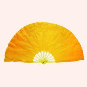 Китайский веер для танца желтый 80 см