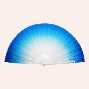 Китайский веер для танца синий 82 см