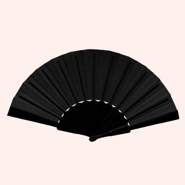 Китайский веер для танца черный