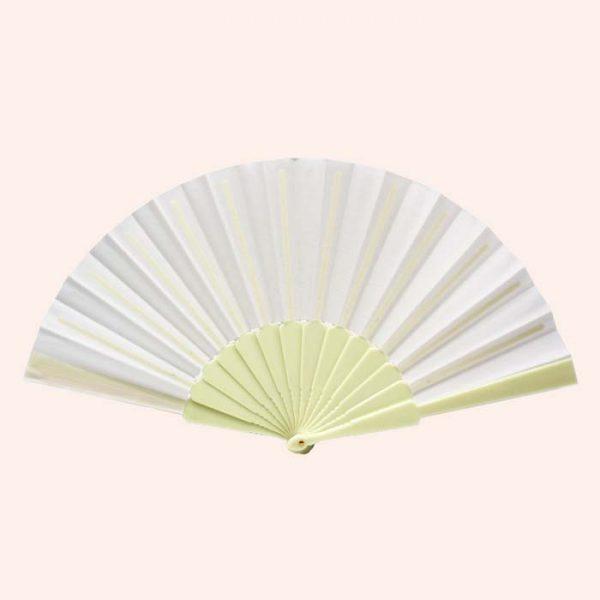 Китайский веер для танца кремовый