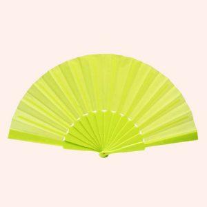 Китайский веер для танца салатовый