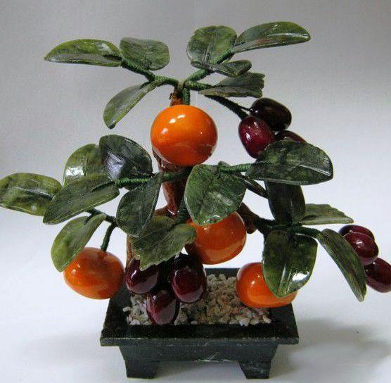 Дерево счастья 5 мандаринов и виноград 25 см