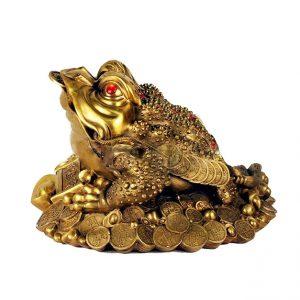 Трёхлапая жаба из бронзы