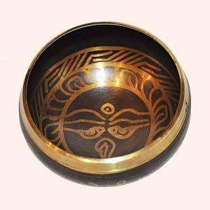 Поющая чаша 7 металлов Глаза Будды 10 см