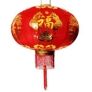 Китайский фонарик карпы с чашей изобилия