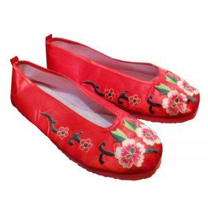 Китайские тапочки красные
