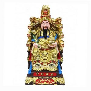 Бог Богатства на троне с девятью Драконами