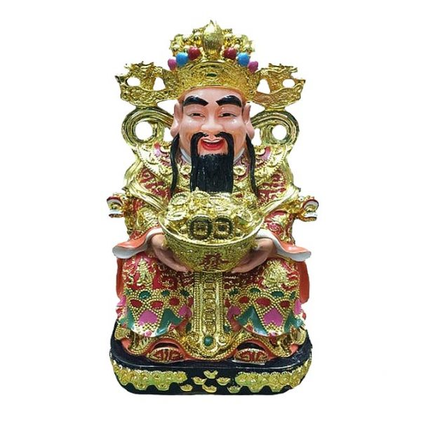 Бог Богатства на троне с Вазой Изобилия