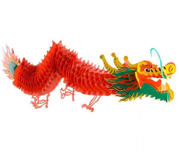 Красный китайский дракон