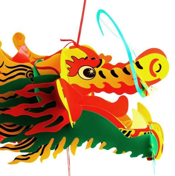 голова бумажного дракона