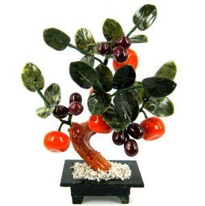 Дерево счастья 4 мандарина и виноград 25 см