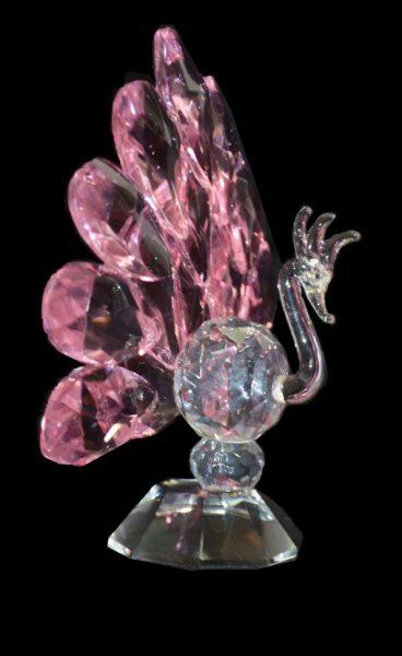 Хрустальный Павлин розовый