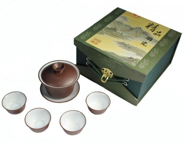 Чайный набор темно-коричневый1