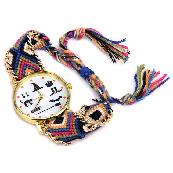 Часы Ведьмины Знаки с плетёным браслетом