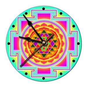 Часы настенные Шри янтра 20 см