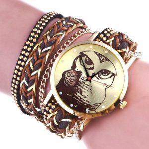 Часы с браслетом с Совой