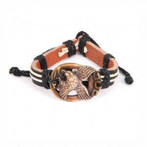 Кожаный браслет Орёл