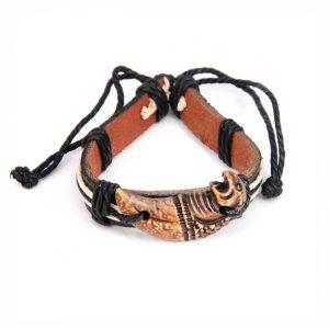Кожаный браслет Ягуар
