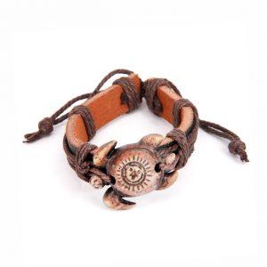 Кожаный браслет Черепаха
