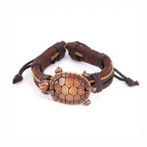 Браслет из кожи с черепахой