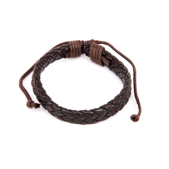 Плетеный кожаный браслет