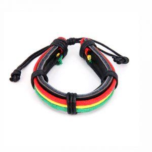Кожаный браслет Ямайка