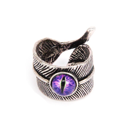 Кольцо Перо с глазом безразмерное