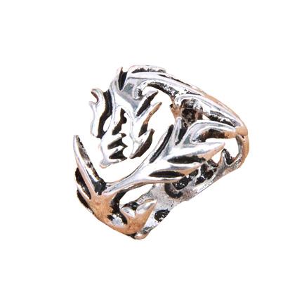Кольцо в виде дракона безразмерное