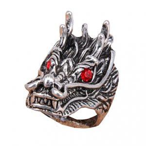 Кольцо большое Дракон
