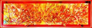 Батик панно Райские птицы 2м