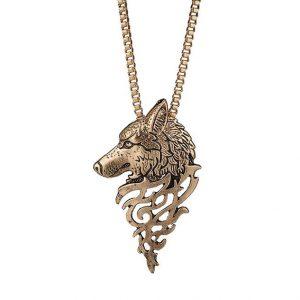 Кулон с цепочкой Волк