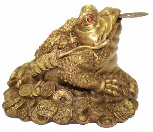Трёхлапая жаба бронзовая
